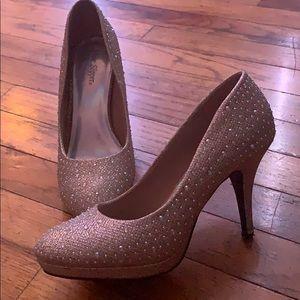 Gold prom heels